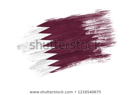 Flag of Qatar painted with brush Stock photo © tang90246