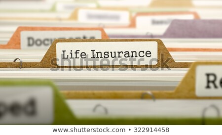 Folder in Catalog Marked as Insurance Policies. Stock photo © tashatuvango