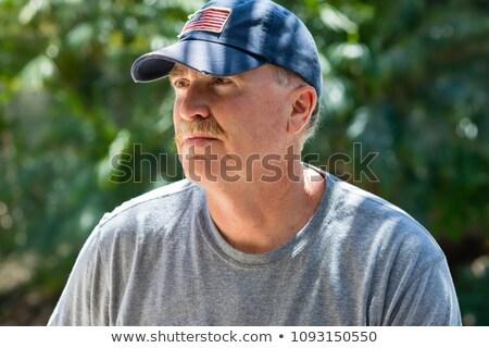 Sorridere senior casuale uomo indossare baseball Foto d'archivio © feedough