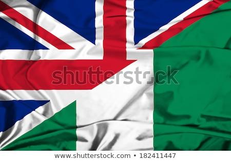 Regno Unito Nigeria bandiere puzzle isolato bianco Foto d'archivio © Istanbul2009