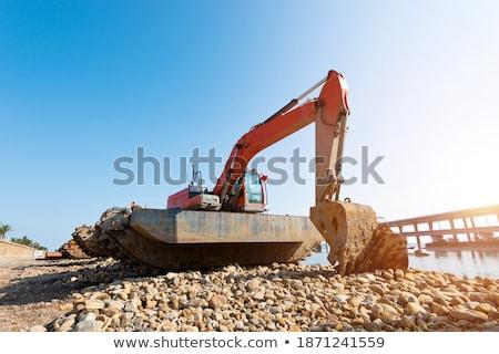Escavadora beira-mar amarelo mar indústria Foto stock © SRNR