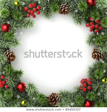 Christmas background with bumps  and snowflakes Stock photo © Valeriy