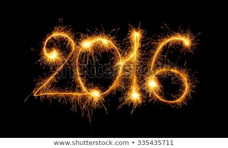 Szczęśliwego nowego roku 2016 czarny złota wakacje uroczystości Zdjęcia stock © vlad_star