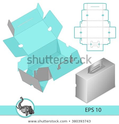 коробки набор различный позиции бумаги окна Сток-фото © elgusser