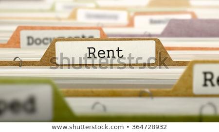 folder in catalog marked as rent stock photo © tashatuvango