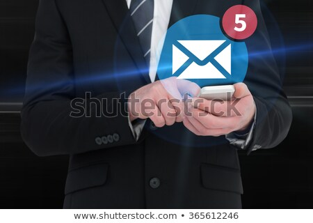composite image of five text messages received stock photo © wavebreak_media