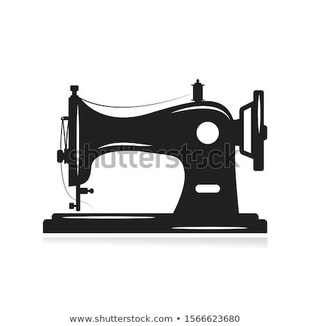 oude · naaimachine · kleermaker · workshop · doek · werk - stockfoto © jasminko