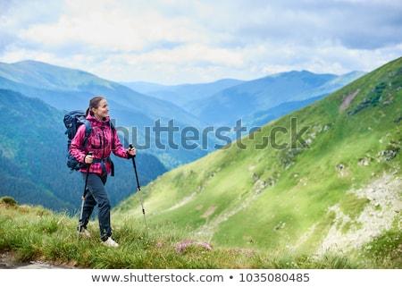 Woman trekking Stock photo © zurijeta