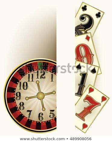 Old vintage casino poker background, vector illustration Stock photo © carodi