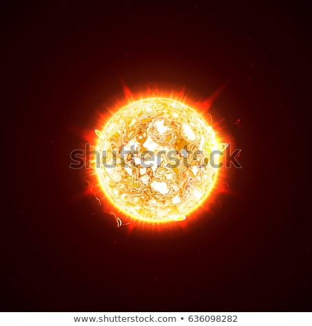 Foto stock: Vetor · realista · sol · planeta · ilustração · colorido