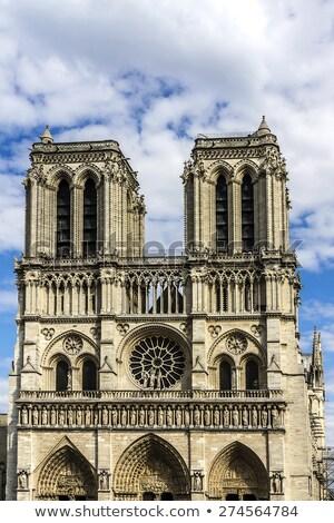 Római katolikus templom Párizs hölgy udvar Stock fotó © dariazu