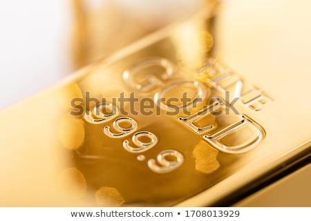 gold bullion close-up  Stock photo © OleksandrO