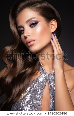 Photo of young magnificent woman with long hair Stock photo © igor_shmel