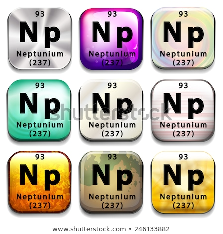 A button showing the element Neptunium Stock photo © bluering