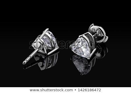 Diamentów kształt serca czerwony miłości Zdjęcia stock © Arsgera