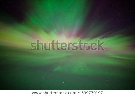 Northern lights corona above Stock photo © Juhku