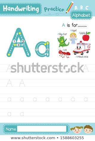 письме аллигатор иллюстрация фон искусства образование Сток-фото © bluering