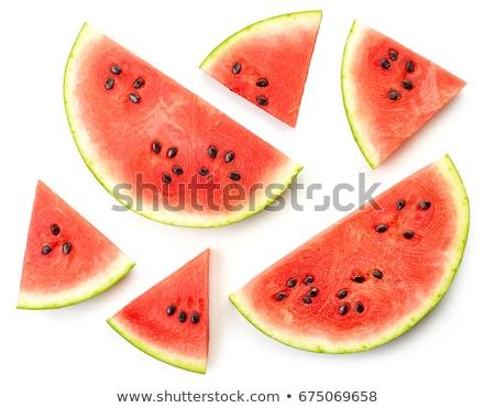 Sliced watermelon, top view Stock photo © stevanovicigor