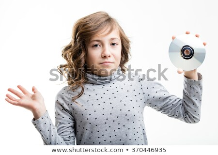 CD-ROM is unknown for this girl Stock photo © Giulio_Fornasar