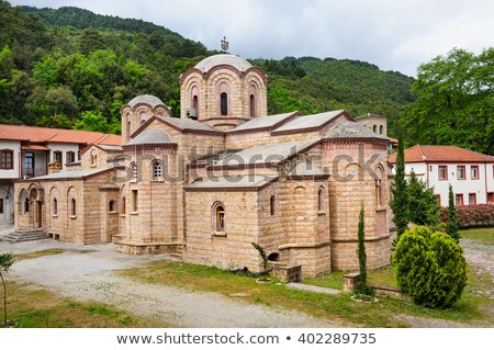 kolostor · szent · szent · fontos · épület · fák - stock fotó © ankarb
