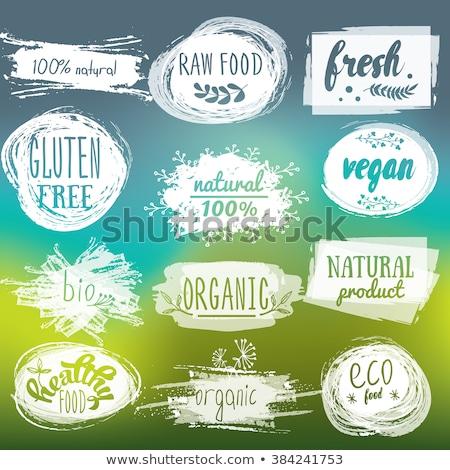 Tag blanche texte vegan papier santé Photo stock © Zerbor