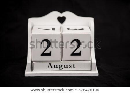 Agosto calendário vinte segundo Foto stock © Oakozhan