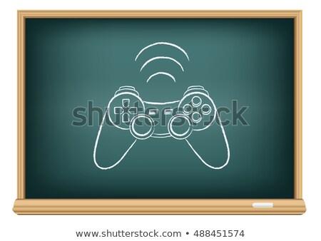 доске геймпад рисунок образование белый дизайна Сток-фото © romvo