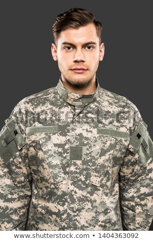 A handsome soldier Stock photo © bluering