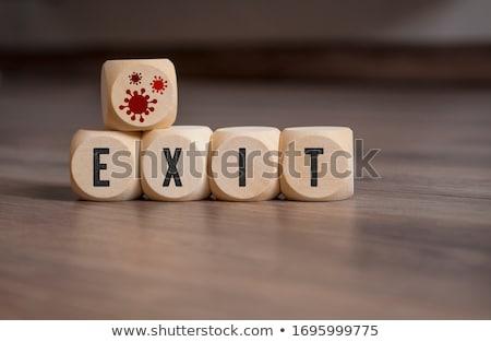 Salida estrategia imagen riesgo defectuoso resumen Foto stock © creisinger