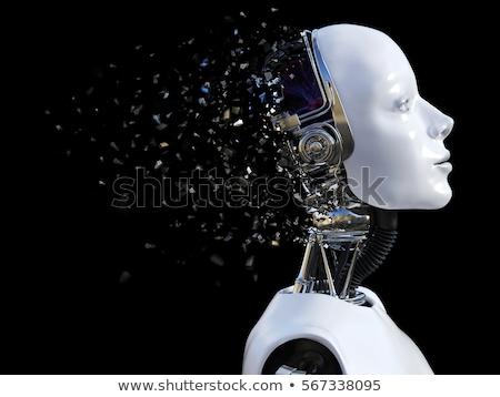 Kobieta robot silne niebieski świetle sexy Zdjęcia stock © davisales