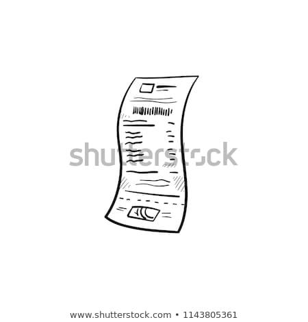 receipt sketch icon stock photo © rastudio