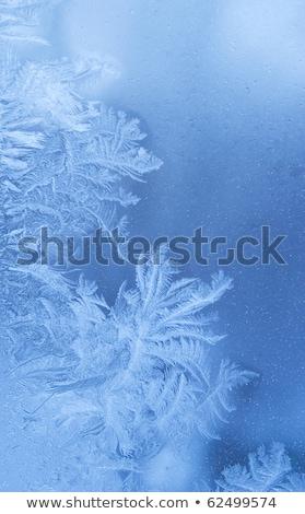 helado · patrones · formación · nieve · vidrio · primer · plano - foto stock © szabiphotography
