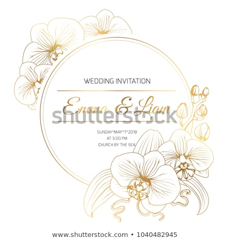 Stock photo: Shining golden orchid
