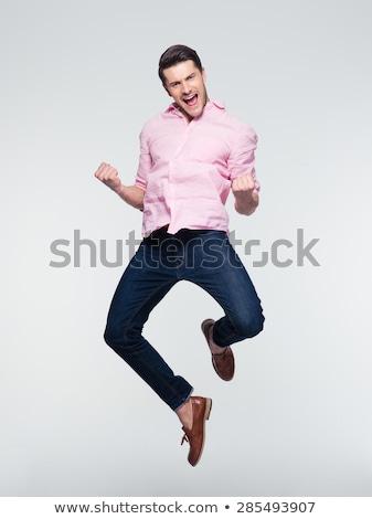 retrato · guapo · masculina · camisa - foto stock © deandrobot