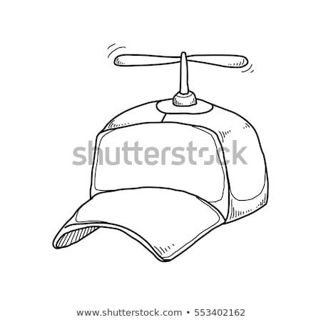 Fiú sapka propeller rajz ikon vektor Stock fotó © RAStudio