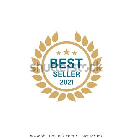En iyi yıl etiket rozet dizayn altın Stok fotoğraf © SArts