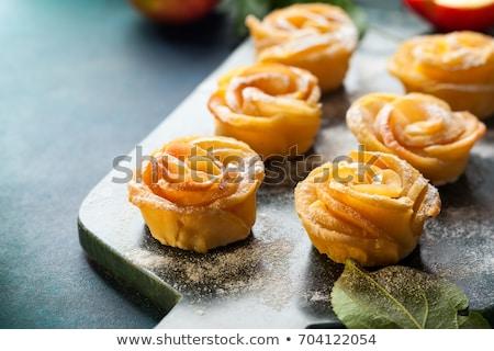 rustiek · appel · taart · gebak · melk · voedsel - stockfoto © tasipas