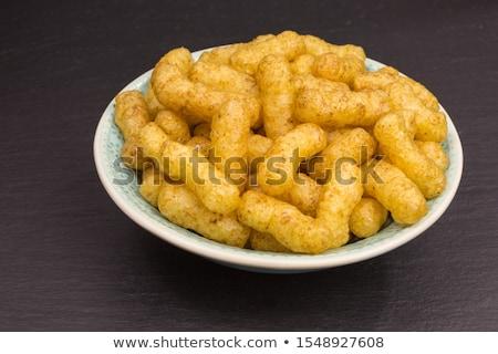 Croccante arachidi dettaglio alimentare ciotola Foto d'archivio © Digifoodstock