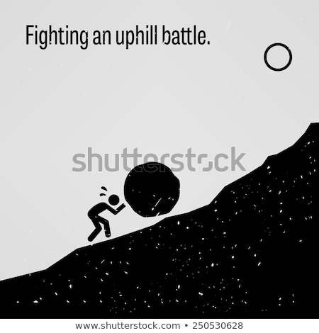 Facing problems and challenging obstacles in life Stock photo © stevanovicigor