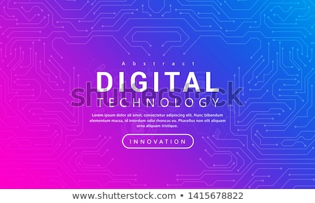 Abstract pink geometric technology background  Stock photo © fresh_5265954