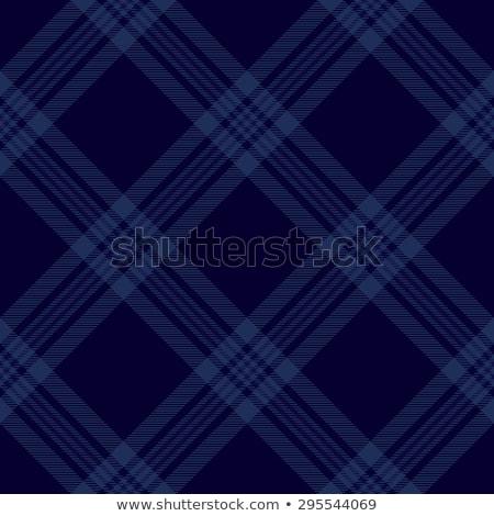 Dark blue tartan diagonal seamless pattern background Stock photo © sanjanovakovic