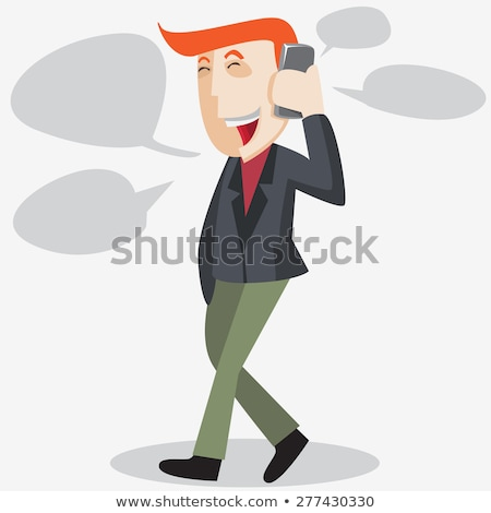 asian business man talking the phone vector isolated stock photo © nikodzhi