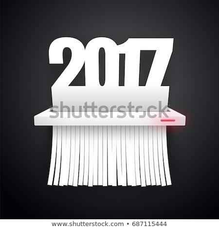 Paper 2017 is Cut into Shredder Dark Stock photo © Voysla