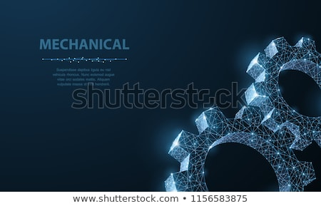 Metal Gears Background, technic concept Stock photo © JanPietruszka