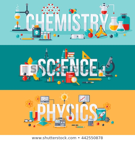 Poster design for stem education with science tools Stock photo © bluering