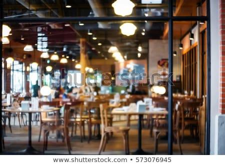 vintage · paar · coffeeshop · koffie · vacuüm · koffiezetapparaat - stockfoto © tekso