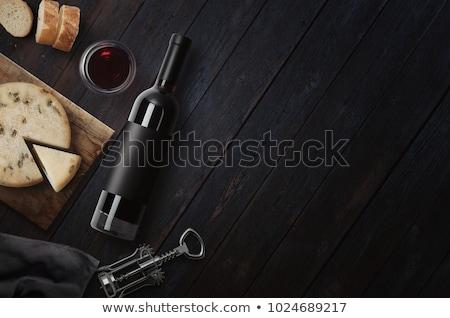 Foto stock: Vino · queso · pan · alimentos · fondo · beber