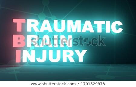 trauma · medische · Rood · 3d · illustration · diagnose · wazig - stockfoto © tashatuvango