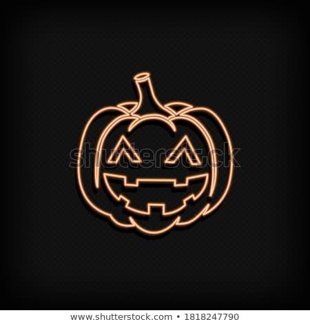 Stock foto: Halloween · neon · Zeichen · schnell · einfach