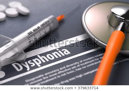 Impresso diagnóstico cinza turva texto médico Foto stock © tashatuvango